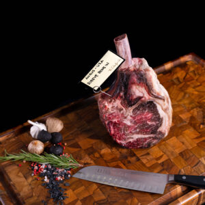 Dry Aged Ribeye Bone In Steak from USA Angus breed with marbling grade USDA Prime